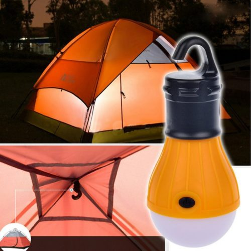 מנורות לקמפינג - עובדות באמצעות סוללות עם וו תליה