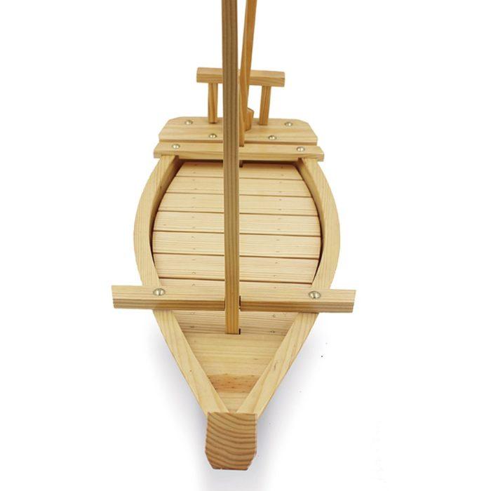 מעמד עץ בצורת ספינה להגשת סושי