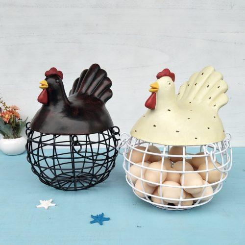 סלסלת ביצים דקוראטיבית בצורת תרנגולת