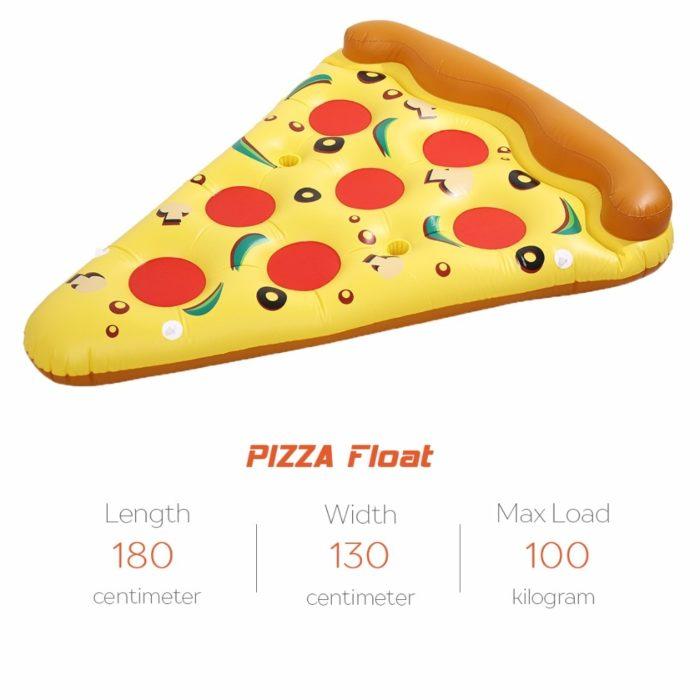 מזרון מתנפח לבריכה בצורת משולש פיצה ענקי