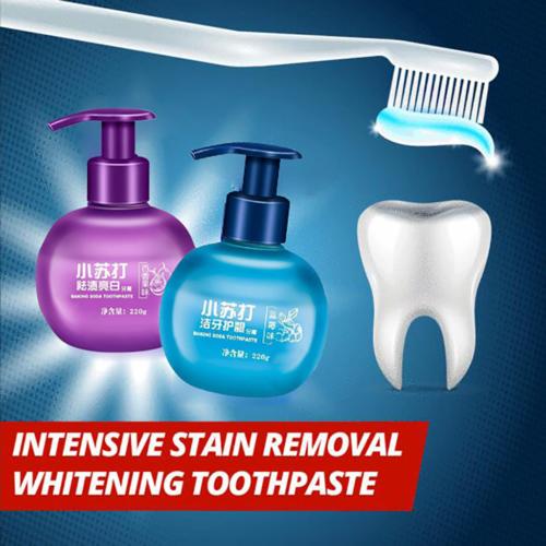 משחת שיניים מסודה לאפייה להסרת כתמים והלבנה