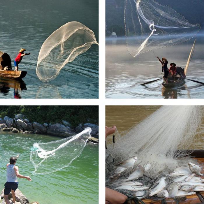 רשת דיג מקצועית לתפיסת עשרות דגים ללא מאמץ