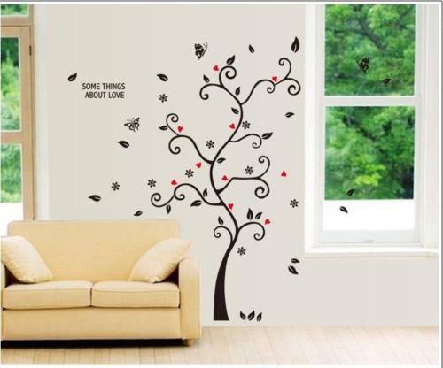 מדבקת עץ דקורטיבית לקיר לתליית תמונות משפחתיות