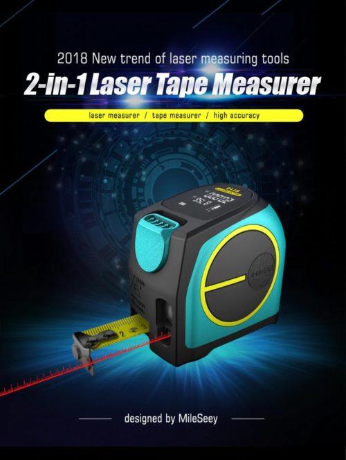 מטר לייזר מקצועי עד טווח של 40 מטר נטען באמצעות USB