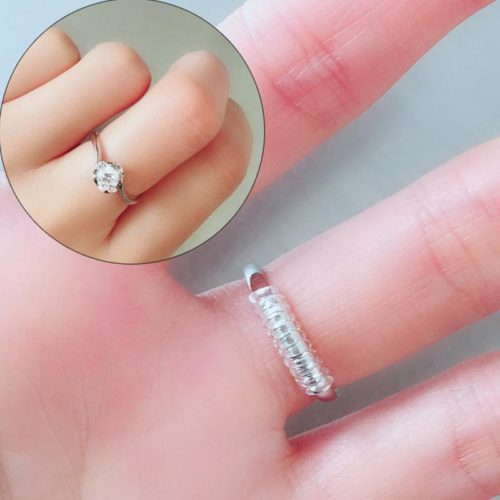 ספירלה להקטנת טבעות והתאמתן לגודל האצבע בקלות ללא צורך בחיתוך הטבעת