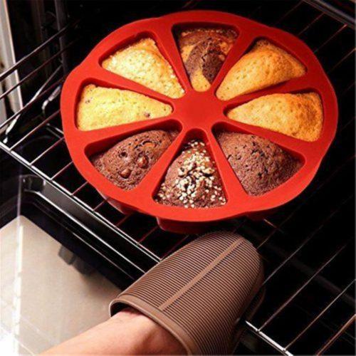 תבנית סיליקון לאפיית עוגות חתוכות מראש