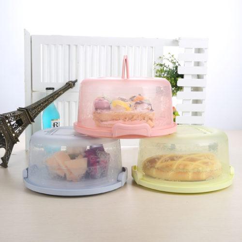 מגש קופסה לשמירת על טריות של עוגות עם ידית לניוד בקלות