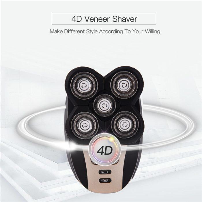 מכונת גילוח לפנים ולקרחת רב שימושית 5 ראשים