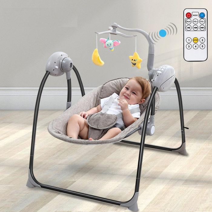 כיסא נדנדה חשמלי לתינוק עם שלט רחוק