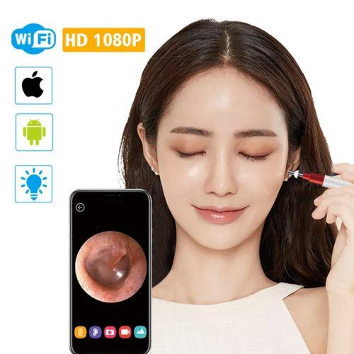 מכשיר אלחוטי לניקוי האוזן עם מצלמה אלחוטית לשידור פנים האוזן