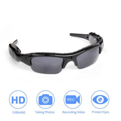 משקפי שמש עם מצלמת מעקב מובנית לוידאו ותמונות