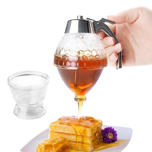 כלי לאחסון ומזיגת דבש בקלות
