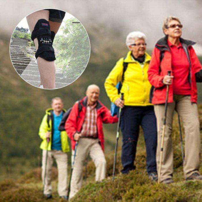 זוג פדים לתמיכה בברכיים למניעת פציעות והקלה בכאבים