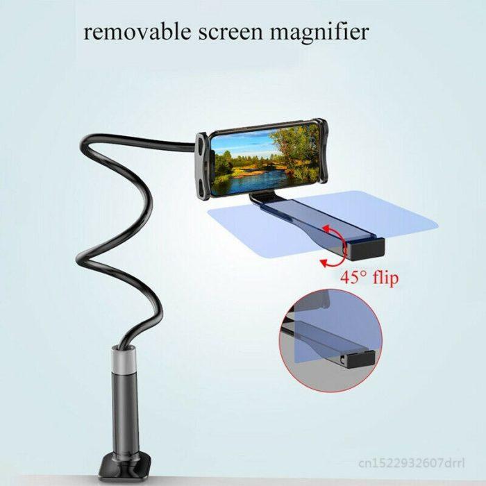 זרוע גמישה להחזקת הנייד עם מגדיל מסך להקרנת סרטים