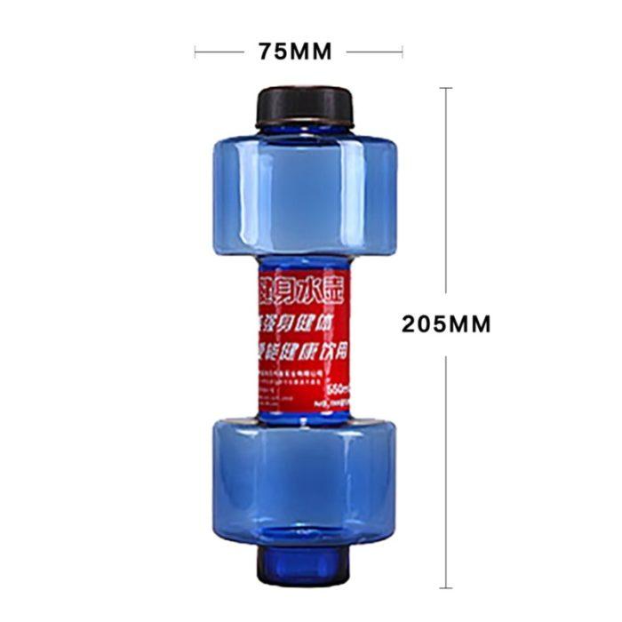 בקבוק מים המשמש גם בתור משקולת יד לאימונים