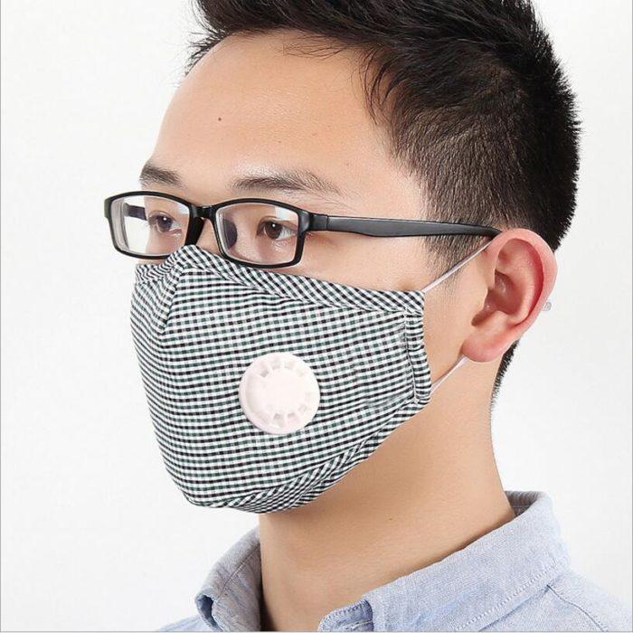 מסיכת פנים מבד להגנה מאבק