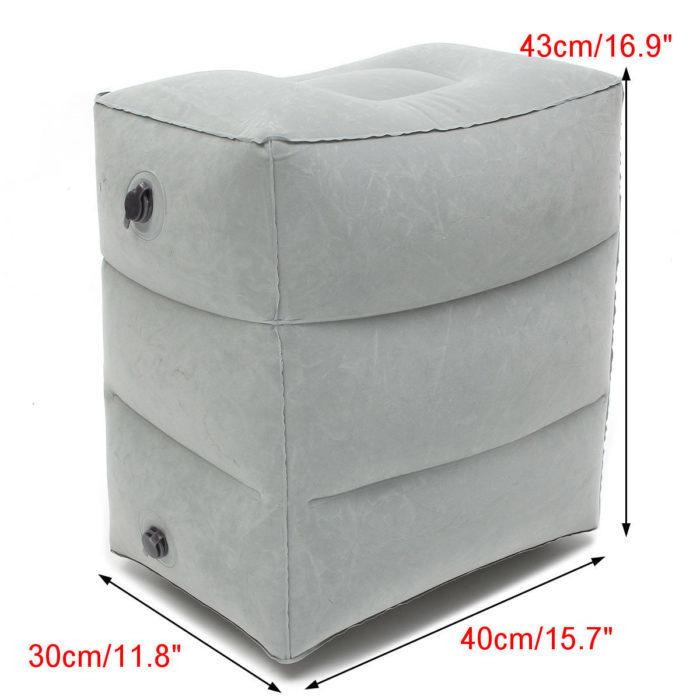 כרית גבוהה מתנפחת למנוחה לרגליים בעלת 3 תאים