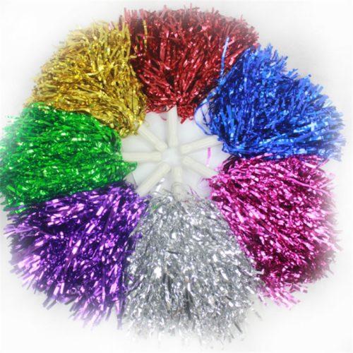 זוג פונפונים למעודדות בצבעים שונים