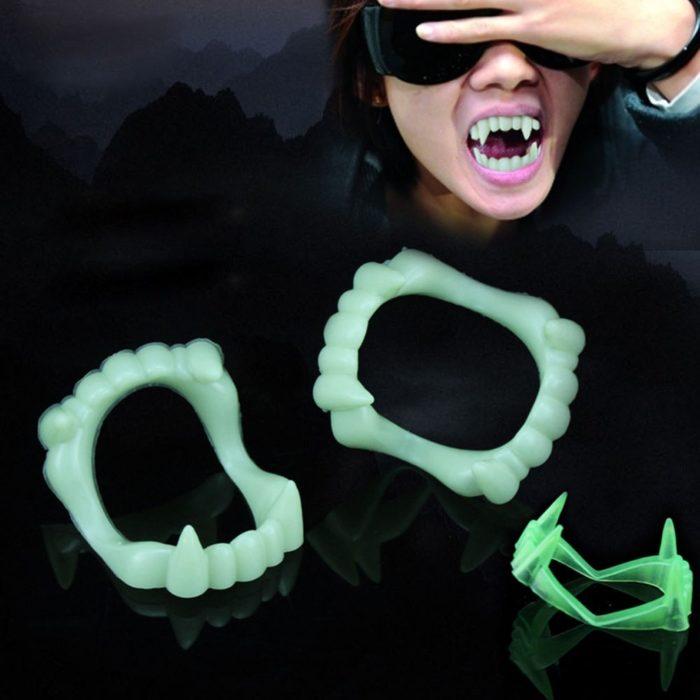 שיני ערפד זוהרות בחושך לתחפושת