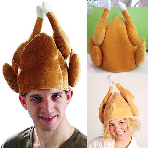כובע מצחיק בצורת תרנגול על הראש