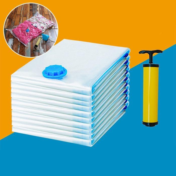 5 שקיות לאחסון מינימלי ללא אוויר עם משאבה ידנית