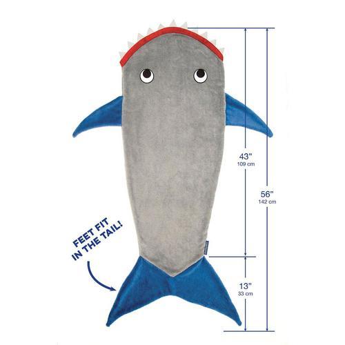 שמיכה מגניבה בצורת כריש לילדים