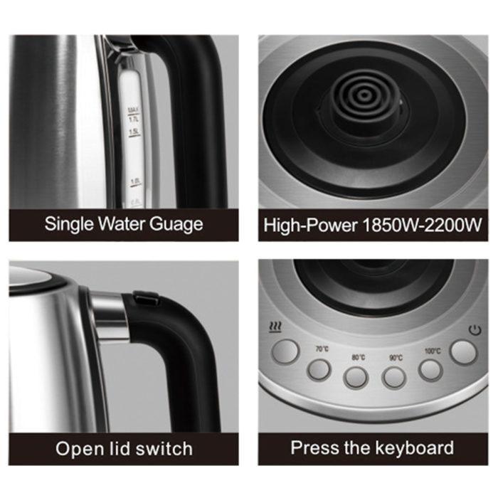 קומקום חשמלי עם שליטה בטמפרטורת המים לפי בחירה