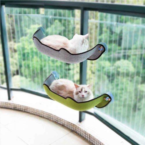 מיטת חתול תלויה הנדבקת בקלות לחלון