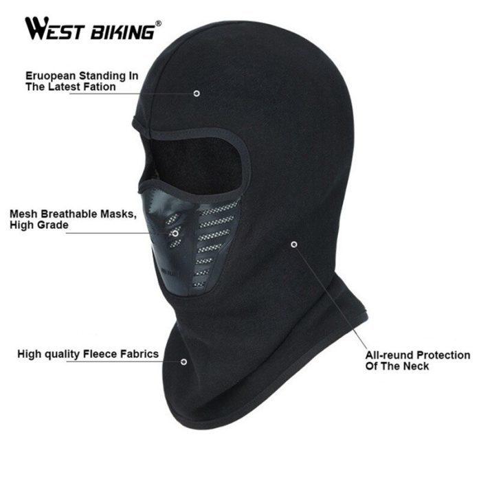 מסכת פנים חסינת רוח לרכיבת אופניים בחורף