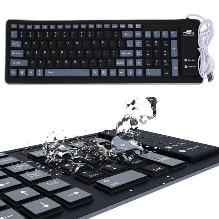 מקלדת רכה מסיליקון למחשב