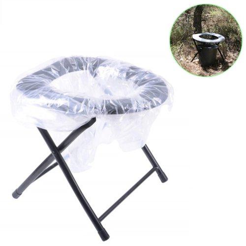כיסא שירותים ניידים לקמפינג ולטבע