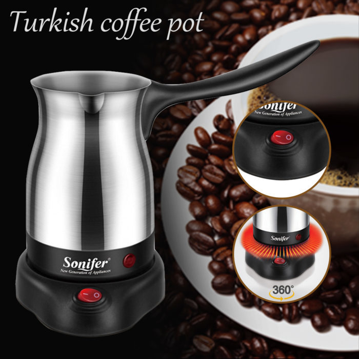 פינג'ן חשמלי להכנת קפה טורקי