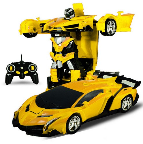 צעצוע רכב על שלט רחוק ההופך גם לרובוט