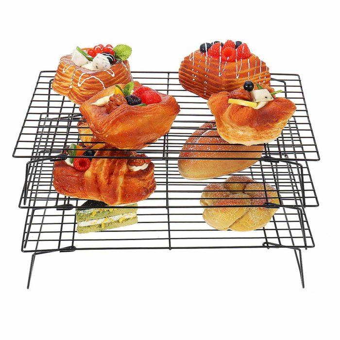 מדף מתקפל 3 שבלים לקירור מאפים ואוכל חם