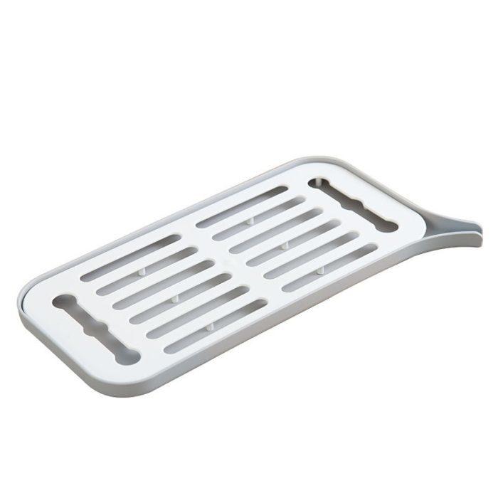 משטח לייבוש כלים רטובים עם משפך ניקוז
