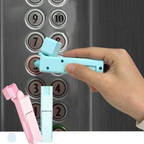 מקל היגייני ללחיצת כפתורים במעלית ופתיחת דלתות ללא מגע
