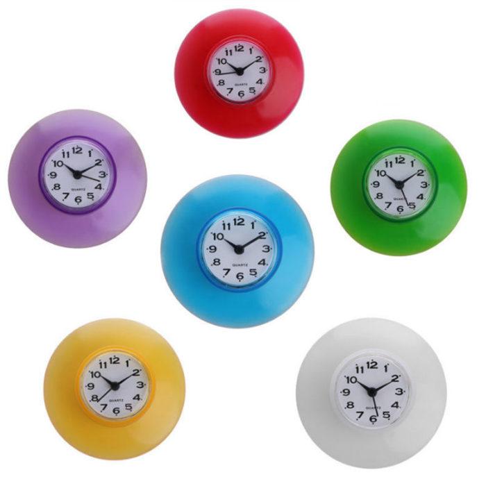 שעון קיר חסין מים למקלחת