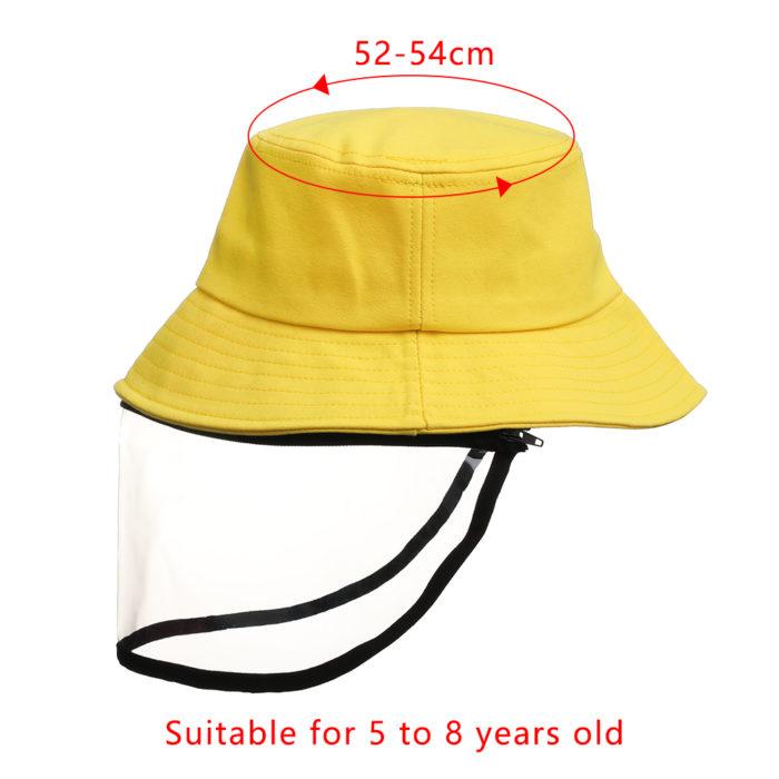 כובע עם מגן פנים מפלסטיק לתינוקות וילדים