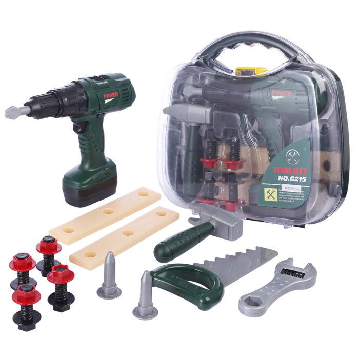 סט משחק ארגז כלים עם מגוון כלי עבודה לילדים