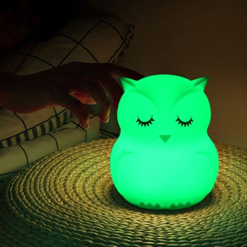 מנורת לילה מחליפת צבעים בצורת ינשוף