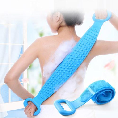 רצועת קרצוף לגב במקלחת עשויה סיליקון