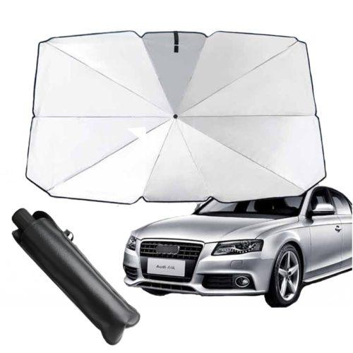 מגן שמש לשמשת הרכב בצורת מטריה המתקפלת בקלות