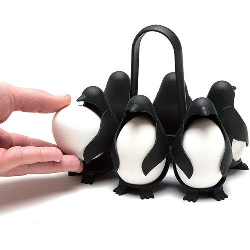 מחזיקי ביצים בזמן הבישול בצורת פינגווינים להכנסה והוצאה נוחה