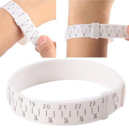 רצועה למדידת היקף הזרוע למידות צמידים