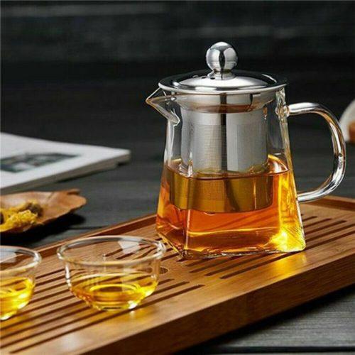 כלי השריית תה מזכוכית