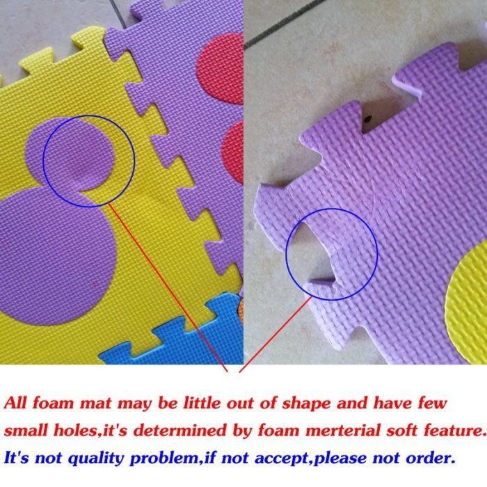 משטח פאזל לילדים ותינוקות (10 חתיכות)