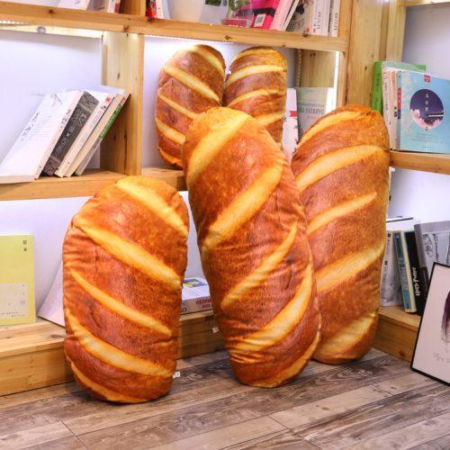 כרית תלת־מימדית בצורת כיכר לחם