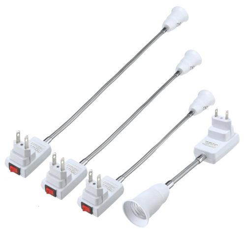 חיבור ישיר של מנורה לשקע חשמלי עם הארכה גמישה