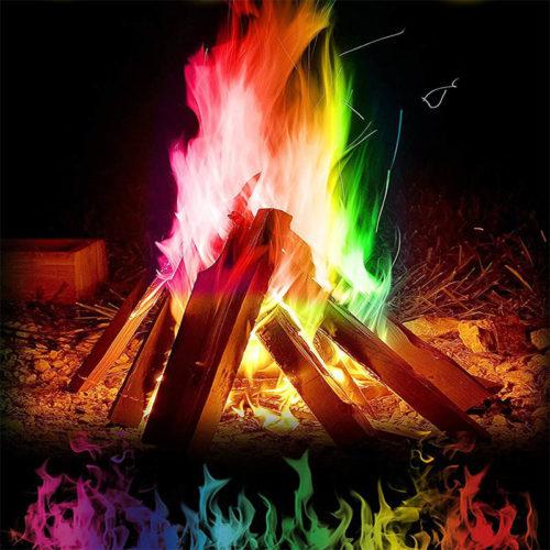 אבקה לצביעת להבות אש בצבעים מרהיבים