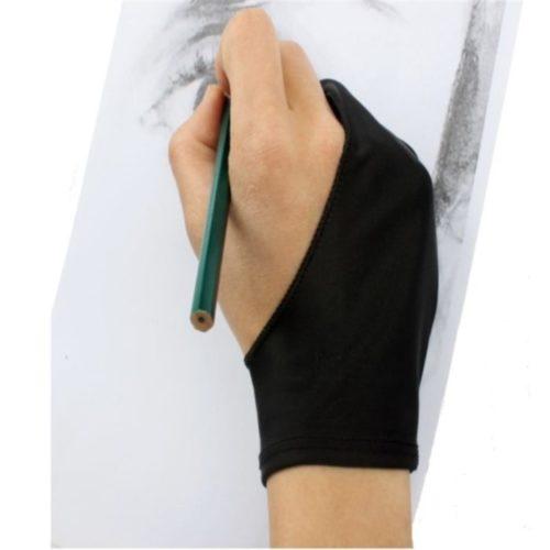 כפפת אצבעות למניעת לכלוך היד בעת כתיבה וציור